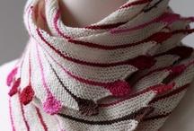 Knitting scarfs.