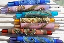 Clay jewelry.