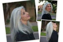 Silver hair woman!