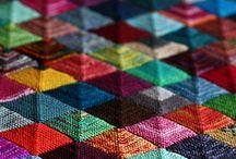 Knitting blankets.