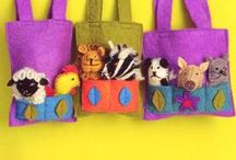 Felted little bags.