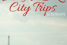city trips EUROPE / Planning a city trip in Europe? Here are the best cities, things you need to do and see and amazing tips on where to stay. Europe - here we come!