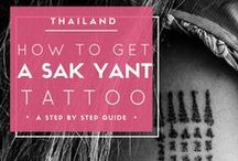 "travel TATTOO inspiration / I love tattoos and I have several ones including a ""magic"" tattoo, a Sak Yant made by a Buddhist monk. Still looking for new inspiration for my next travel themed tattoo. Follow this board and get inspired too!"