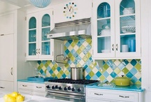 Kitchen in Blue and Green