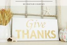 Thanksgiving / DIY Thanksgiving decor and crafts to put your home in the mood for Thanksgiving!