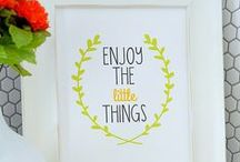 Printables / Check out this huge selection of free printables to help you decorate your home and organize your life! Get beautiful free printables to frame, download free holiday printables, check out some awesome free party printables, and organize your budget and home with these organization printables!