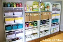 Craft Rooms / Check out these pins for some craft room organization and storage ideas!
