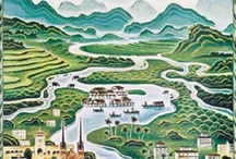 Around the illustrated World - Asia / thanks airline artlover!