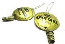 bottlecaps / Contemporary jewelry made from recycled and sanitized bottlecaps.