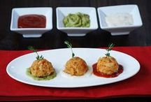 Easy Seafood Recipes for Entertaining / Straight from our chefs at Phillips seafood restaurants-- delicious recipes for appetizers, drinks and more. Use our crab cakes, crab cake minis, calamari, crab dip, and more-- perfect for entertaining your guests anytime. / by Phillips Seafood