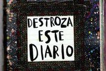 """My """"Wreck This Journal"""" / Mi """"Destroza este diario"""" / Wreck This Journal. Destroza este diario"""