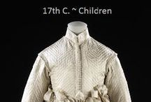 Historical Fashion ~ Children's 17th Century / by Paige Van Wagoner