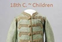Historical Fashion ~ Children's 18th Century / by Paige Van Wagoner