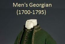 Historical Fashion ~ Men's Georgian (1700-1795) / by Paige Van Wagoner