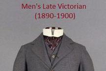 Historical Fashion ~ Men's Late Victorian (1890-1900)