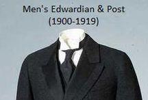 Historical Fashion ~ Men's Edwardian & Post (1900-1919)