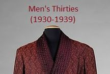 Historical Fashion ~ Men's 30's (1930-1939)