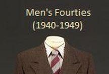 Historical Fashion ~ Men's 40's (1940-1949)