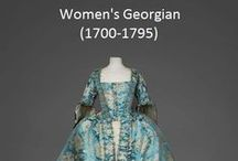 Historical Fashion ~ Women's Georgian (1700-1795)