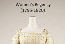 Historical Fashion ~ Women's Regency (1795-1815)