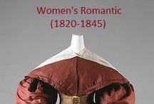 Historical Fashion ~ Women's Romantic (1825-1845)
