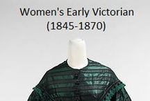 Historical Fashion ~ Women's Early Victorian (1845-1870)