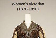 Historical Fashion ~ Women's Victorian (1870-1890)