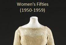 Historical Fashion ~ Women's 50's (1950-1959)