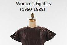Historical Fashion ~ Women's 80's (1980-1989)