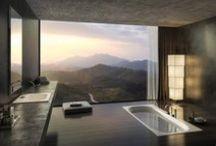 """Arquitectura Baños Modernos- Modern Bathroom Design / """"Toda arquitectura es un refugio, toda gran arquitectura es el diseño del espacio que contiene, exalta, abraza o estimula las personas en ese espacio."""" Philip Johnson."""