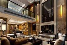 """Arquitectura Salones Modernos - Modern Living Room Design / """"Mi hogar es mi refugio, una pieza de arquitectura emocional, no un lugar frío de conveniencia."""" Luis Barragán"""
