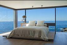 """Arquitectura Dormitorios Modernos - Modern Bedroom Design / """"De la mayoría de las publicaciones de arquitectura y de la prensa diaria, han desaparecido las palabras belleza, poesía, embrujo, magia, sortilegio, encantamiento. Las palabras, serenidad, silencio, misterio, asombro, hechizo. Todas ellas muy queridas para mí."""" Luis Barragán"""