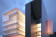 """Arquitectura Edificios Modernos - Modern Building Design / """"La arquitectura es la voluntad de la época traducida a espacio"""".Ludwig Mies Van Der Rohe.""""Cuando yo encaro una obra, la arquitectura lo absorbe todo. Es un arte plástica y al mismo tiempo usa la escultura y a la ingeniería para nutrirse de ellas. Sin embargo, lo que prima al final es la arquitectura."""" Santiago Calatrava"""