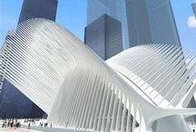 """Arquitectura Estructuras Escultóricas Modernas - Modern Structures Design / Empleando piedra, madera, hormigón, se construyen casas, palacios; eso es construcción: el ingeniero trabajando; pero en un instante, tocas mi corazón, me haces bien, me siento feliz y digo: esto es hermoso, esto es arquitectura, el arte entra en mí."""" Le Corbusier"""