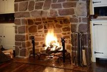 Home Fires Burning / Beautiful fireplaces and fabulous hearth areas