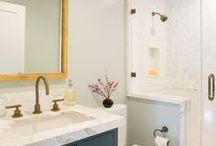 Bathroom Ideas / beautiful bathrooms, bathroom renovation ideas, clean design, bright bathrooms, tubs, home decor, DIY ideas, tile, scandinavian, eclectic, bohemian, bathroom decorating, bathroom inspiration