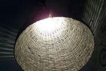 EKO Lamp lampshade Woven from Recycled newspaper paperwicker / Oryginalna lampa z papierowej wikliny ręcznie wykonana z wyselekcjonowanego papieru makulaturowego DIY lamp Woven from Recycled Newspaper