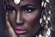 Dark skin make-up