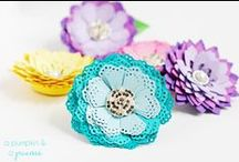 Fabric Flower Wonderfuls (of course)