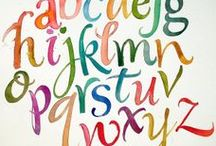 Fonts & Design / The write stuff. See what I did there?  (What's in here: typefaces, fonts, calligraphy, painted, scripty lettering, design inspiration)