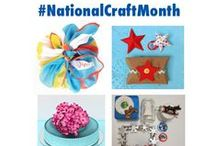 #NationalCraftMonth / #DIY ideas for you to get crafting!