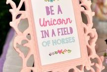 unicorn birthday party / birthday party, unicorn, rainbow, ideas, inspirations, diy, snacks, decorations