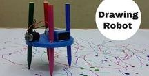 Scribble Bot Inspirations / Ideas for ways to create your own scribble drawing art robot!
