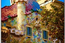 Designed by Antoni Gaudi / Have read of Antoni's work, but have never had the pleasure of seeing any of it in person. / by Mary C. Downing