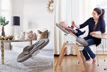 Stokke Steps Bouncer  / Like you and your baby, each part of Stokke® Steps is made for each other. Stokke® Steps is an ingenious All-in-One seating system that gives children active comfort and the freedom to move within the safest of surroundings from birth. This simple to use modular system offers a wide range of ergonomic seating, from a bouncer with unique cradling motion, to a functional highchair and later, a versatile chair that can be used throughout childhood. / by STOKKE®