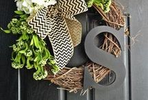 Wreaths,Door Hangers & Flags / by Windy Lee