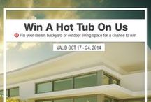 Dream Backyard Hot Tub Giveaway / Pin your dream backyard or outdoor living scene, then head to http://ow.ly/CTdri and enter to win a free Hot Tub from BuildDirect!  / by BuildDirect