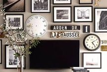 Wall Gallery Decor Ideas / Wall gallery ideas. Picture frames, templates, inspiration, and more!