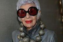 Advanced style aging gracefully/Iris Apfel... / by JoAnn Rogers
