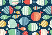 Pretty patterns / Beautiful illustrated patterns for bolt fabric, stationery, and licensing.  / by Tarsila Krüse